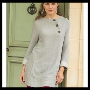 Soft Surroundings Mar Button Pullover